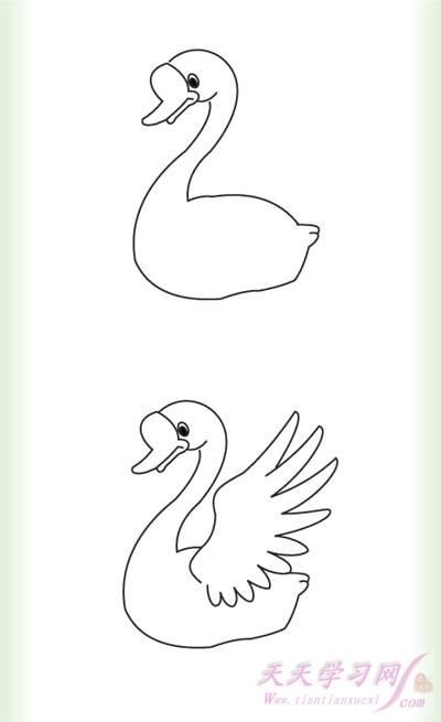 幼儿学简笔画:大白鹅简笔画