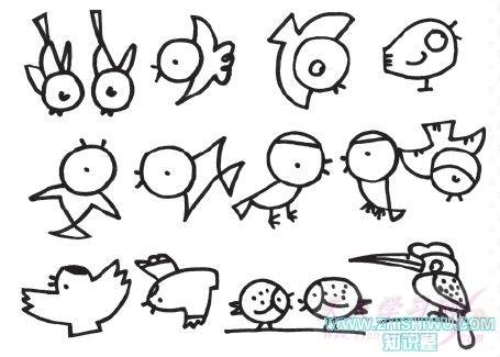 小鸟简笔画图片大全画